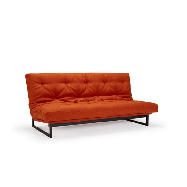 Červená rozkládací pohovka Innovation Fraction Elegant Elegance Paprika, 97x200cm