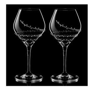 Set 2 pahare pentru vin Selene Swarovski Elements în ambalaj luxos