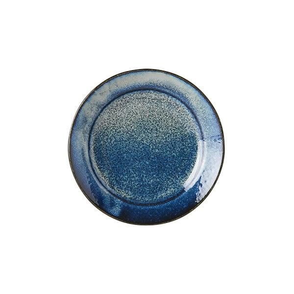Modrý keramický talíř MIJ Indigo, ø17 cm