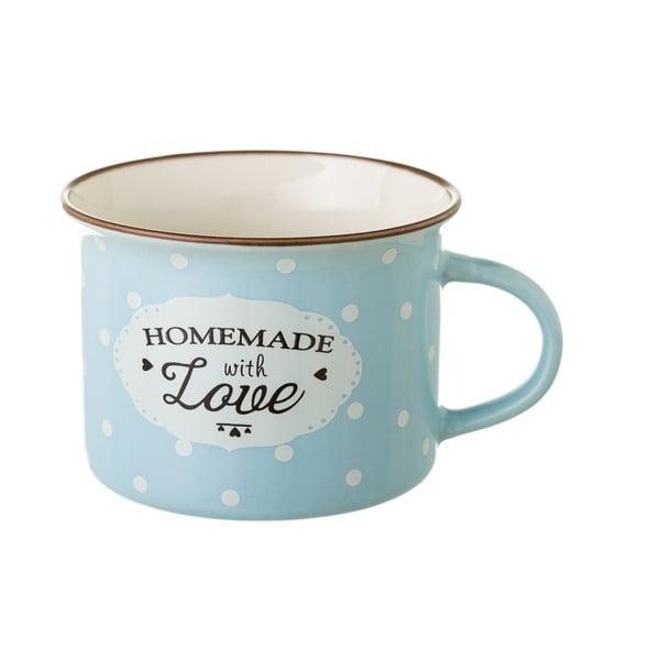 Modrý porcelánový hrnček Unimasa Homemade, 170 ml