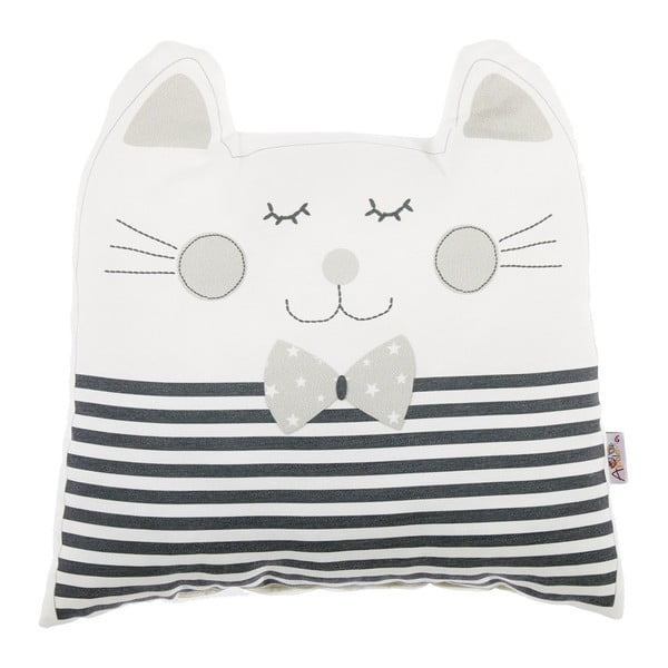 Pernă decorativă Apolena Pillow Toy Big Cat, 29 x 29 cm, gri