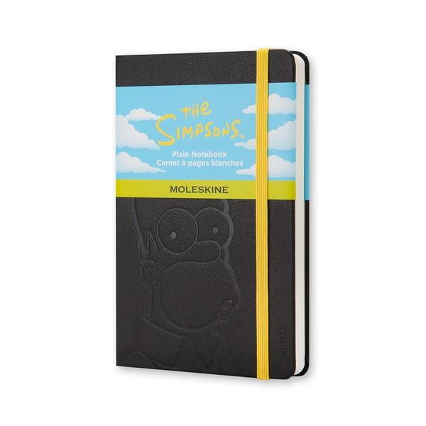 Černý zápisník moleskine The Simpsons, malý