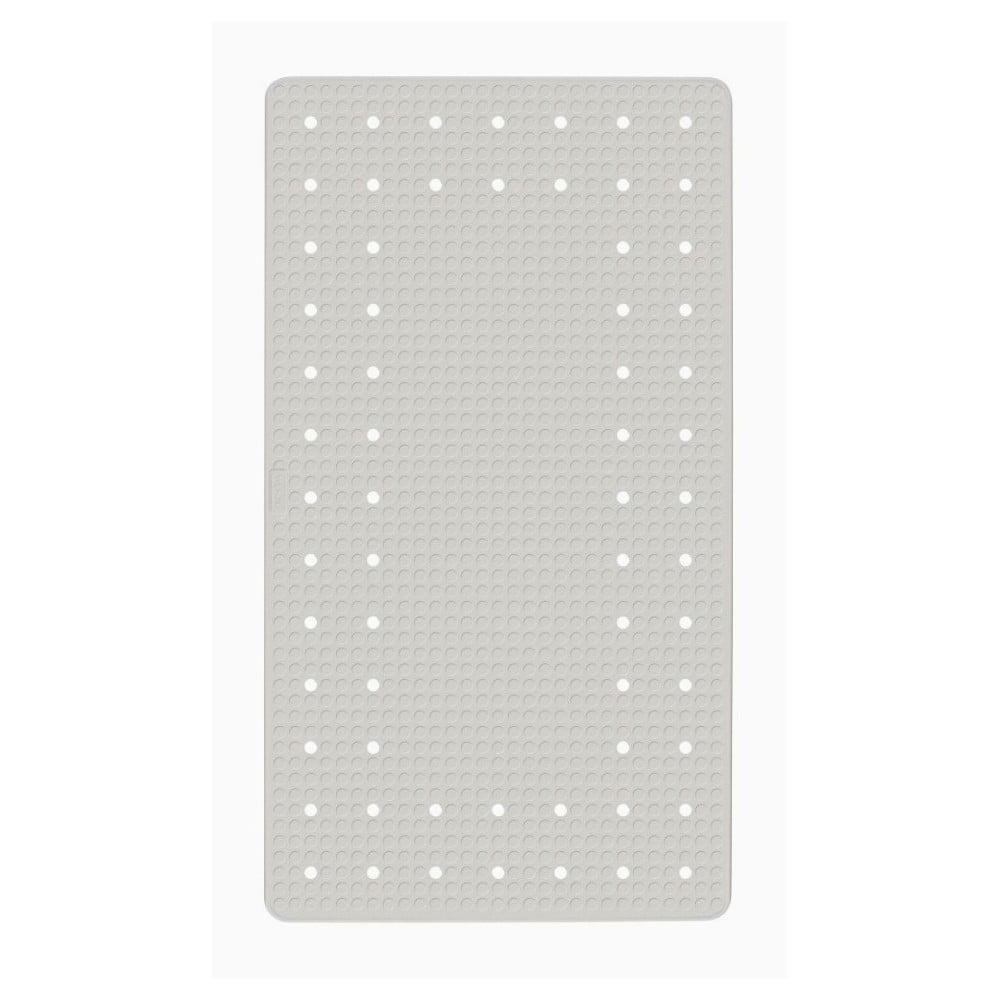 Bílá protiskluzová koupelnová podložka Wenko Mirasol, 69 x 39 cm