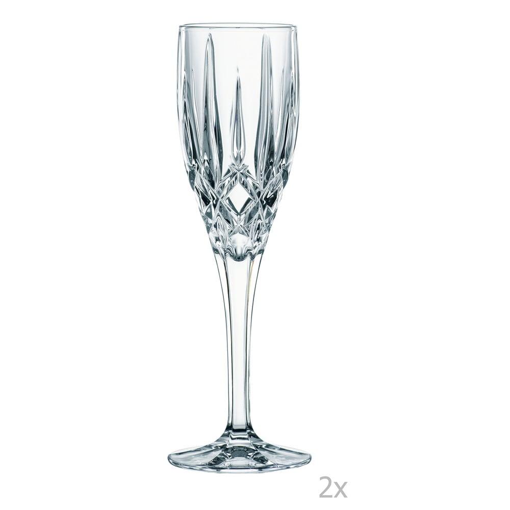 Sada 2 přípitkových sklenic z křišťálového skla Nachtmann Noblesse, 160 ml