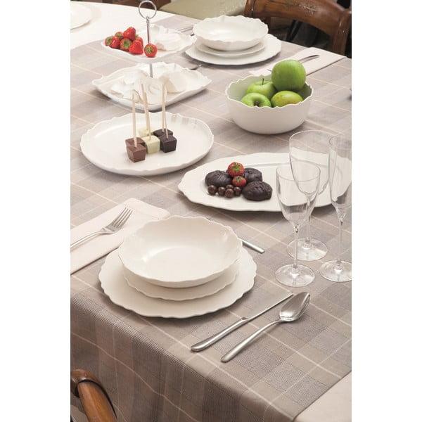Sada 6 dezertních talířů Butterfly Bianco