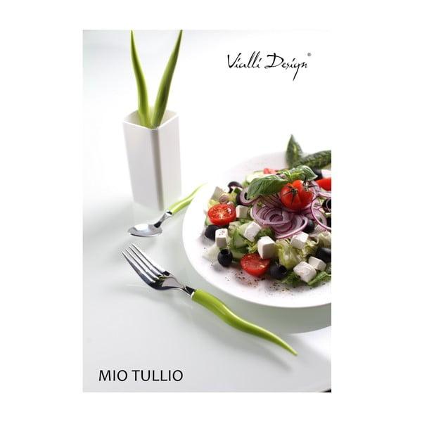 Sada příboru Mio Tullio 5 ks, zelená/bílá