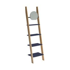Tmavě šedá opěrná police se zrcadlem Ragaba Ashme Ladder