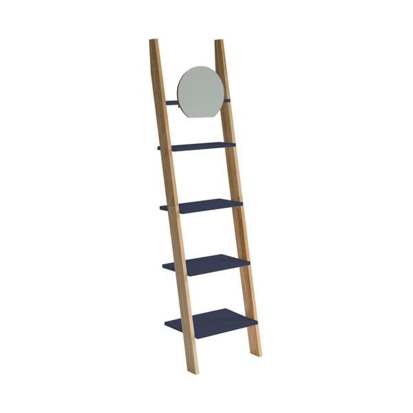 Ashme Ladder sötétszürke létrapolc tükörrel - Ragaba