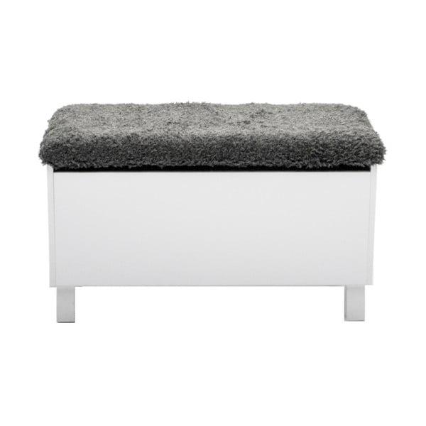 Bílá lavice s úložným prostorem RGE Sture