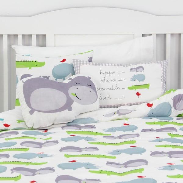 Oboustranný bavlněný povlak na polštář Mr. Fox Hippo, 50x30cm