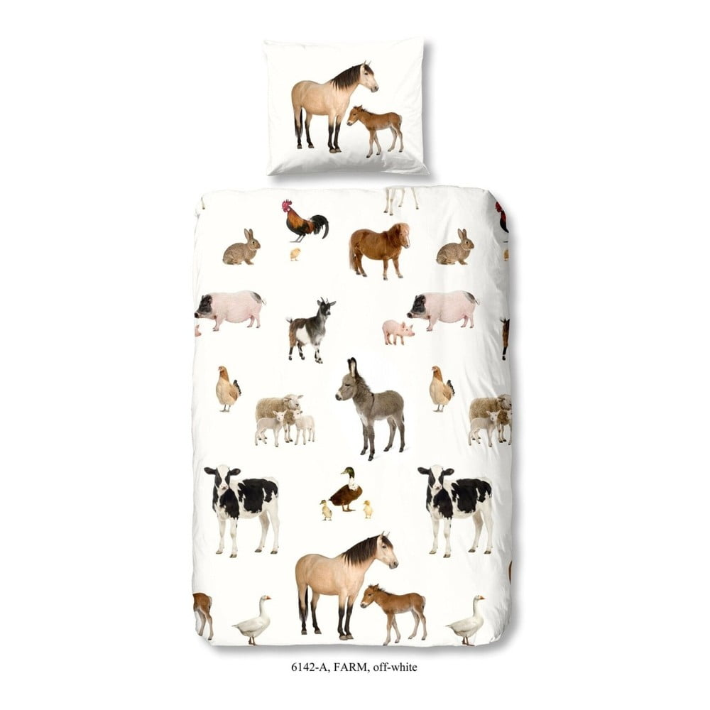 Dětské povlečení na jednolůžko z čisté bavlny Muller Textiels Farm, 140 x 200 cm