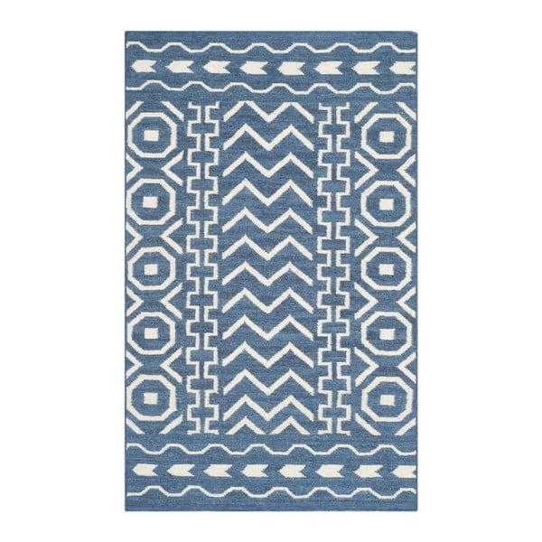 Vlněný koberec Kent Blue, 121x182 cm