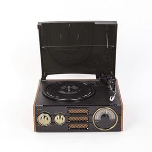Černý gramofon s rádiem GPO Empire Black TG-192