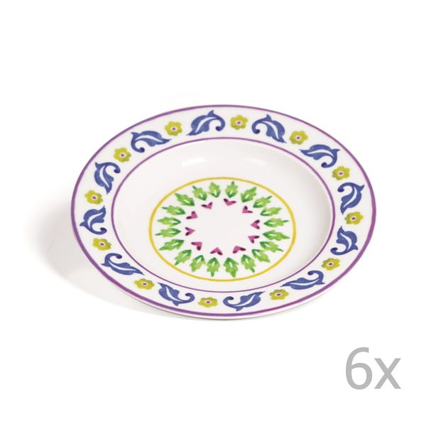 Sada 6 polévkových talířů Toscana Gimignano, 22.5 cm