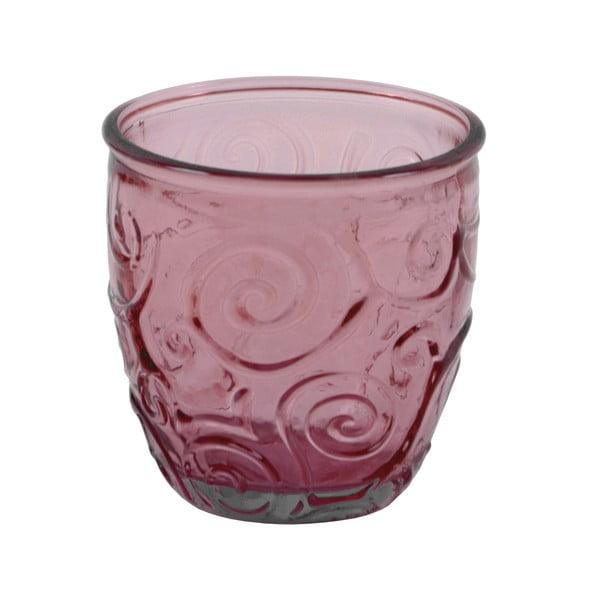Růžová sklenice z recyklovaného skla Ego Dekor Triana, 250ml