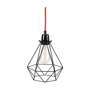 Světlo s černým stínítkem a červeným kabelem Filament Style Diamond #1