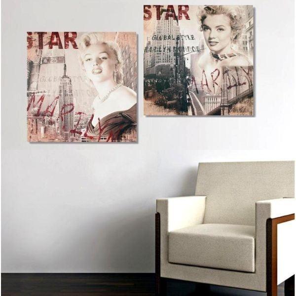 2dílný obraz Star Marilyn, 35x70 cm