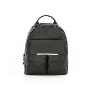 Černý kožený batoh Gianni Conti Petrina