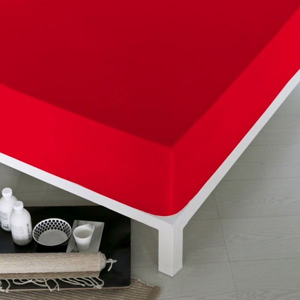 Prostěradlo Home Red, 100x200 cm