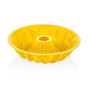 Žlutá silikonová forma na bábovku The Mia Maya, ⌀ 28 cm