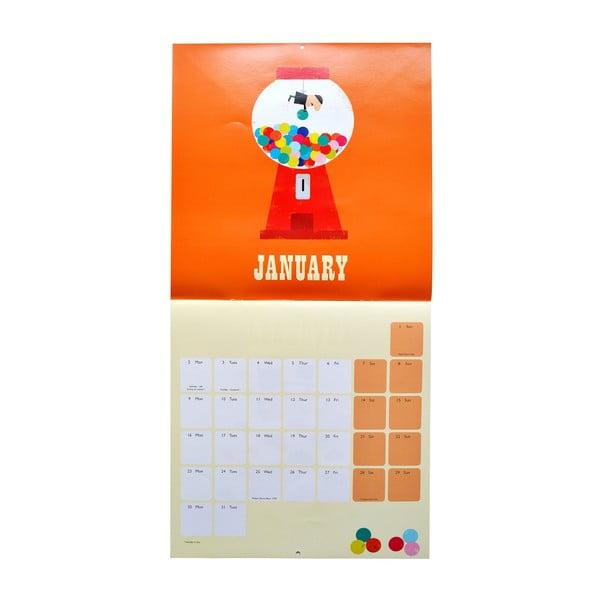 Kalendář Portico Designs Ink Press SQ