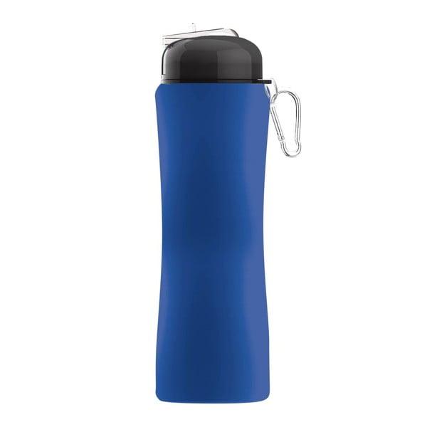 Revoluční sportovní lahev Sili-Squeeze, modrá, 650 ml
