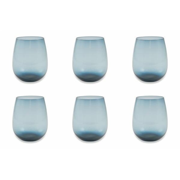 Happy Hour 6 db-os kék pohárkészlet, 240 ml - Villa d'Este