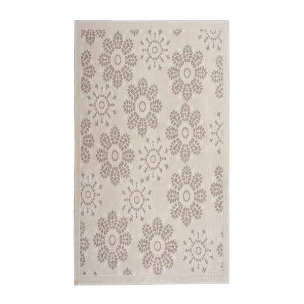 Krémový  bavlněný koberec Floorist Randa, 80x300cm