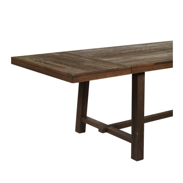 Tmavě hnědá dubová přídavná deska jídelního stolu Rowico Brooklyn