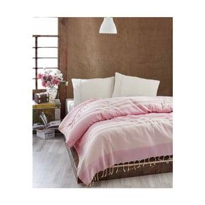 Cuvertură subțire de pat Hereke Pink, 200 x 235 cm
