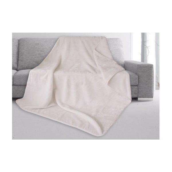 Bílá deka Gözze Cashmere, 180x220cm