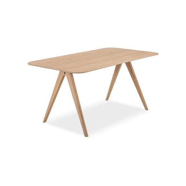 Jídelní stůl z dubového dřeva Gazzda Ava, 90 x 160 cm