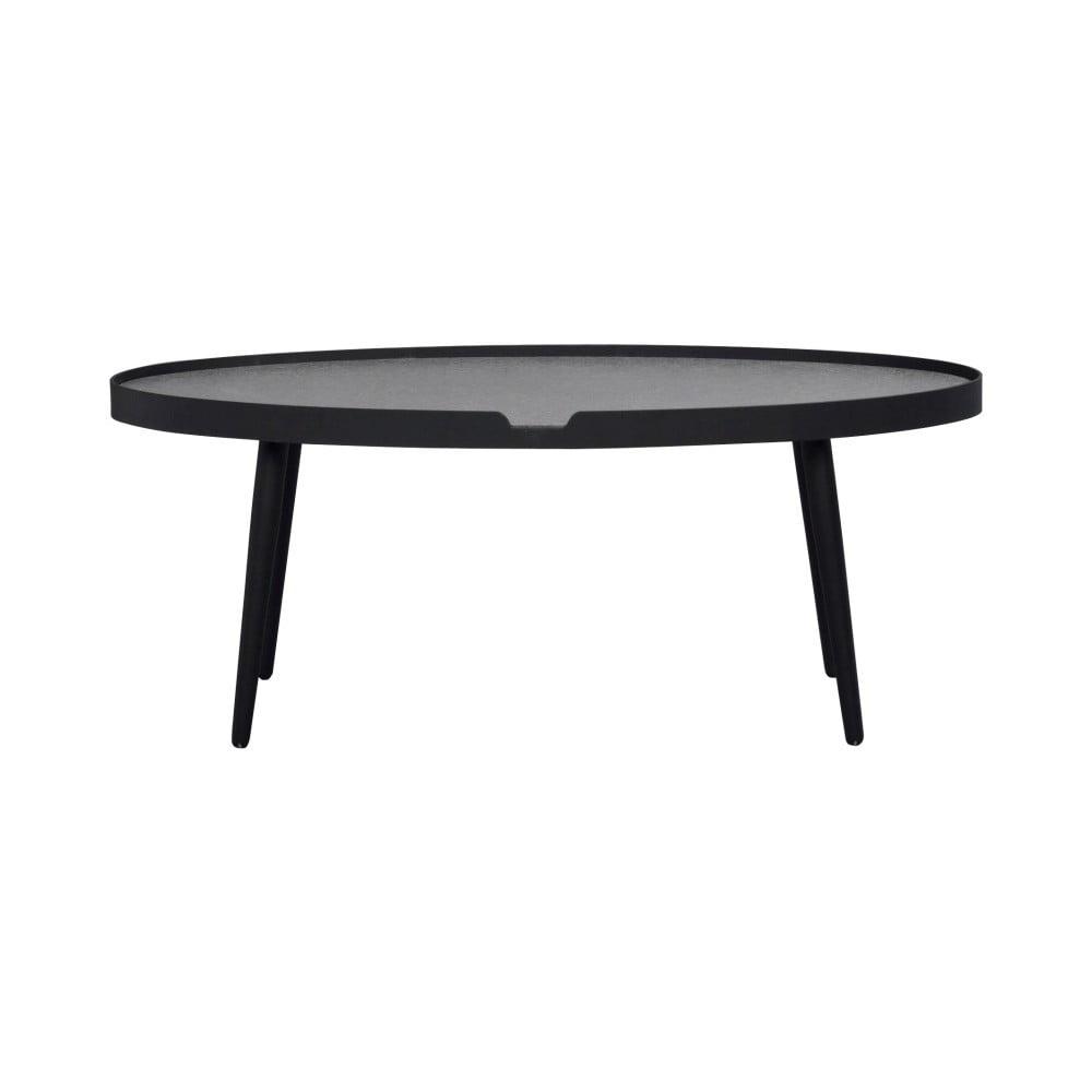 Černý konferenční stolek Folke Wraith, délka 120 cm