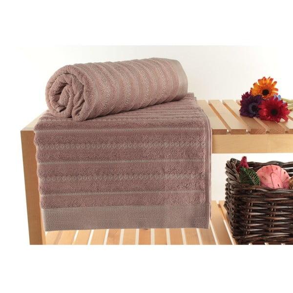 Sada 2 pudrově růžových osušek Bombeli, 90x150 cm