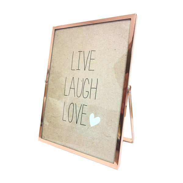 Rámeček Rose Gold Live Laugh Love