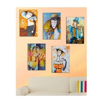 Set 5 tablouri Tablo Center Modern Woman