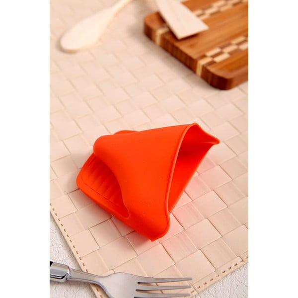 Silikonová chňapka, 2 ks, oranžová