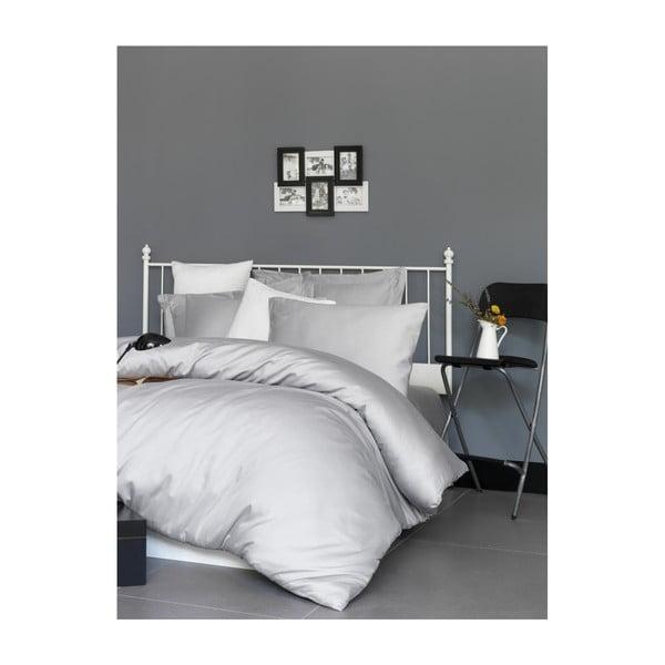 Lenjerie de pat din bumbac satinat, pentru pat dublu Patik De Light, 200x220cm