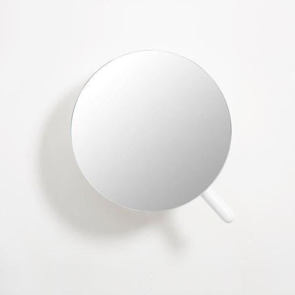 Bílé nástěnné kosmetické zvětšovací zrcadlo Wireworks Neutrino Gloss