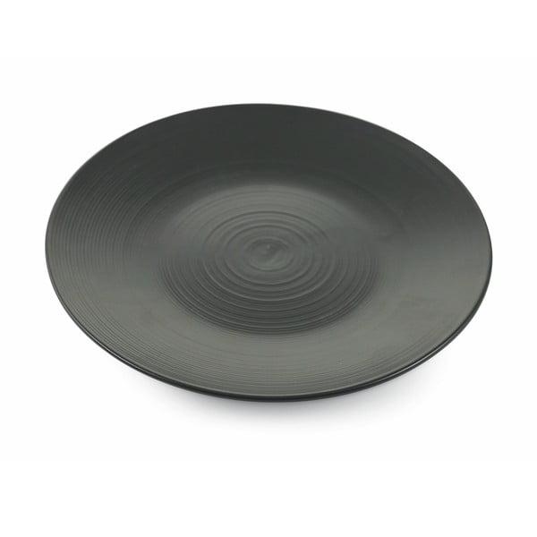 Sada 6 černých talířů na ovoce z kameniny Villad'Este Grafite