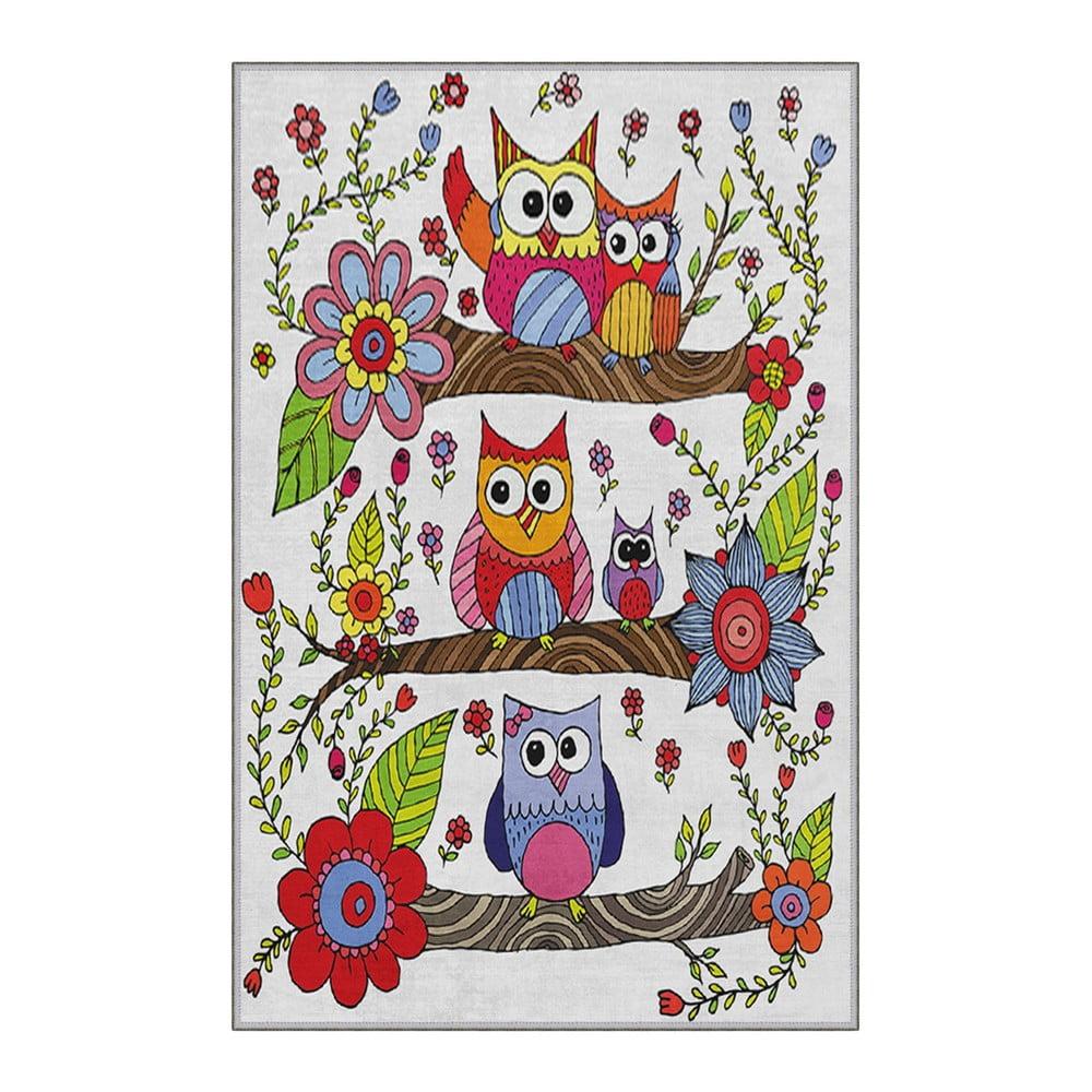 Dětský protiskluzový koberec Homefesto Owls,100x200cm