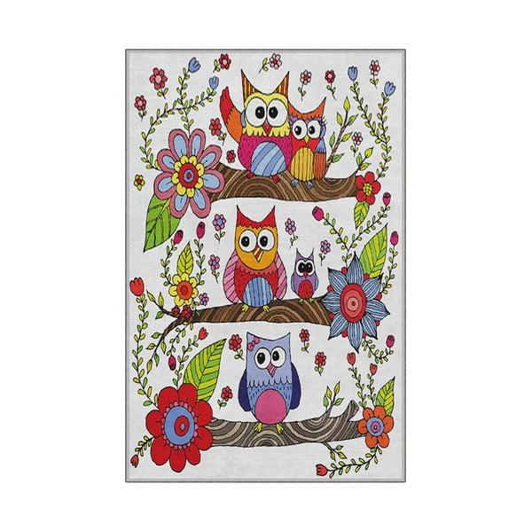 Dziecięcy dywan antypoślizgowy Homefesto Owls, 100x200 cm