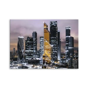 Obraz Styler Canvas Silver Gold Town, 85 x 113 cm