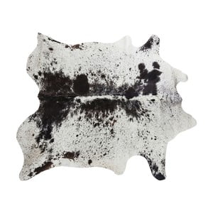 Hnědo-černý koberec z hovězí kůže Kare Design Hide