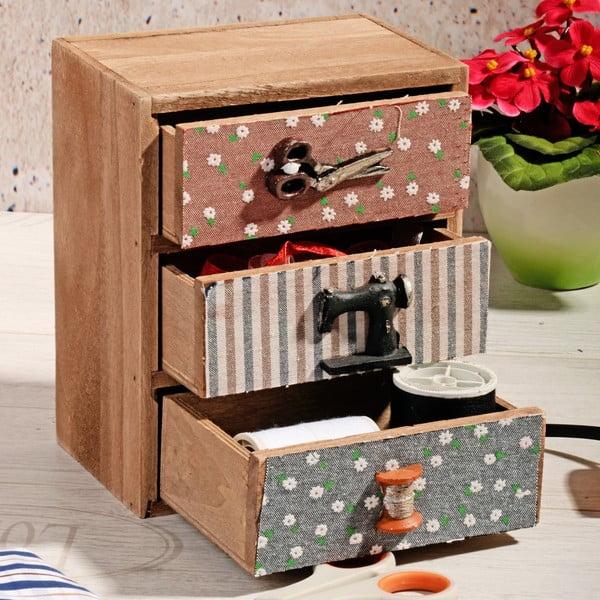 Dřevěný box na šití Drawers