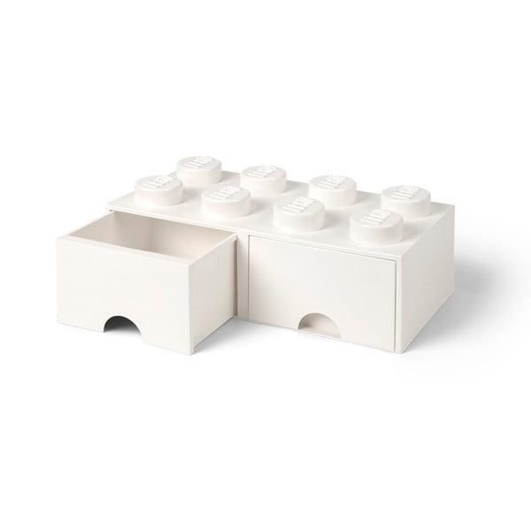 Cutie depozitare cu 2 sertare LEGO®, alb