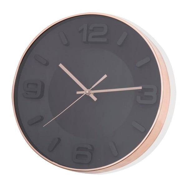 Czarny zegar wiszący Brandani Rose Gold