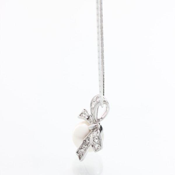 Náhrdelník Laura Bruni se Swarovski Elements Pearl Silver