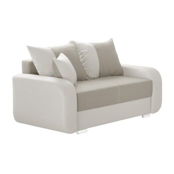 Canapea cu 2 locuri INTERIEUR DE FAMILLE PARIS Destin maro crem