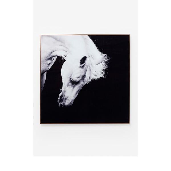 Obraz v rámu Kare Design Proud Horse, 100 x 100 cm